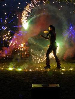 Feuershow mit LED